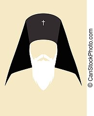 Orthodox Archbishop - Simple graphic of an Orthodox...