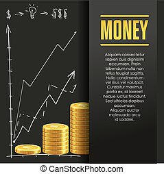 Money poster or banner design template - Money poster or...