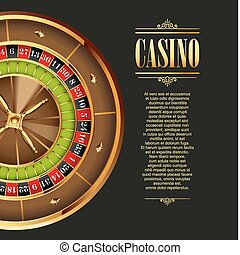 Casino logo poster background or flyer Casino invitation or...
