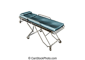 emergency stretcher - 3d illustration of an emergency...