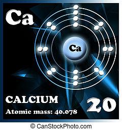Element calcium - Illustration of the element calcium