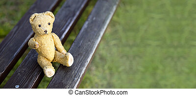 Hope concept banner - Website banner of a toy bear as giving...