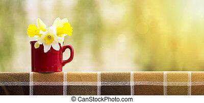 Easter flowers banner
