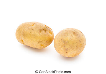 New potato isolated on white background