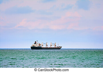 Ship Goes to the Open Sea