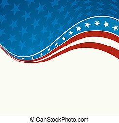 Patriotic wave background USA flag Independence Day banner