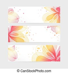 Set floral banners
