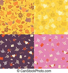 Four seamless patterns