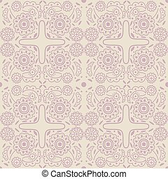 Old-fashioned outline pattern - Seamless old-fashioned...
