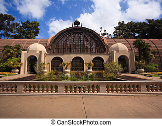 Botanical Building in Balboa Park in San Diego - View of the...