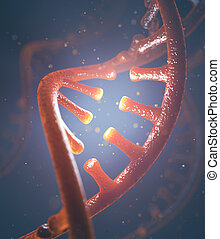 DNA and RNA molecules - 3D image concept of DNA and RNA...