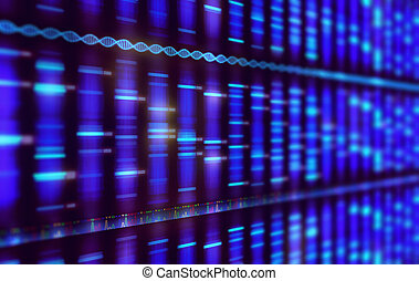 Sanger Sequencing Background - Illustration of a method of...