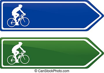cycle lane direction signboard - vector