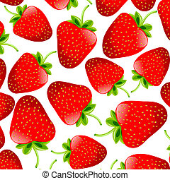 strawberries - Seamless background with strawberries