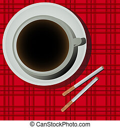 Coffee and cigarettes - Cofee cup and cigarettes...