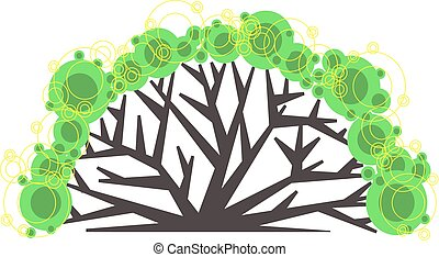 Graphic tree logo. Suitable for ecological, social,...