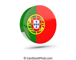 Round icon with flag of portugal
