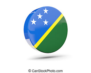 Round icon with flag of solomon islands 3D illustration