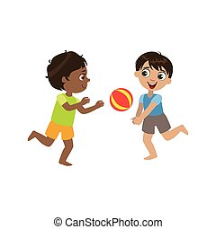 Boys Playing Volleyball