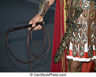 By the Sword...and the Whip - Detail of a Roman soldier...