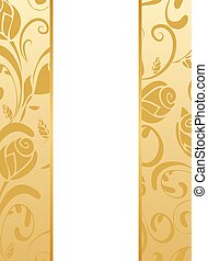 Gold floral wedding invitation - Vector wedding invitation...