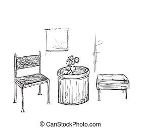 Tischlampe gezeichnet  Zeichnung von gezeichnet, lampe, hand, tisch - hand, gezeichnet ...