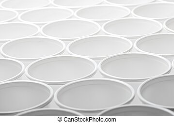 Disposable cups - Large group of disposable plastic cups