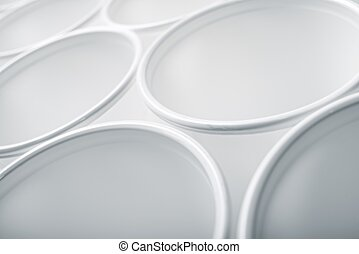Disposable cups - Large group of disposable plastic cups.