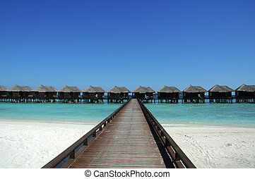 Water villas on beach