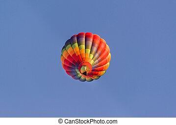 Balloon Over Albuquerque - Colorful hot air balloon in...