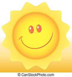 Happy Sun With Background