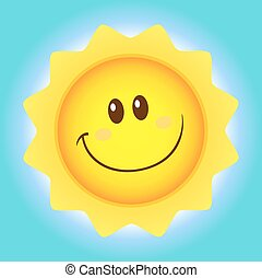 Cute Sun Simple Flat Design