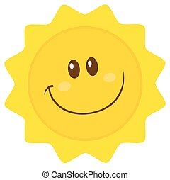 Smiling Sun Simple Flat Design