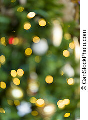 Blurred Christmas Lights - Blurred yellow Christmas lights...