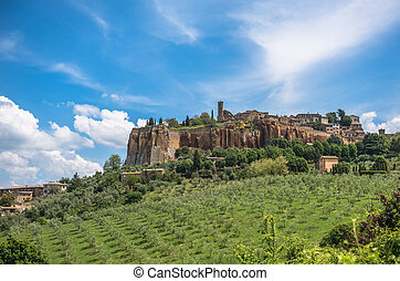 Panoramic view of Orvieto, Umbria, Italy