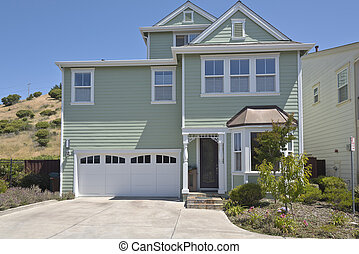 House on a hill in Richmond California - House on a hill...