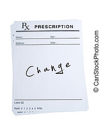 Prescription for Change - THis is an isolated image of...