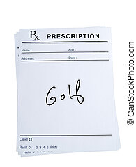 Prescription for Golf - THis is an isolated image of...