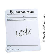 Prescription for Love - THis is an isolated image of...