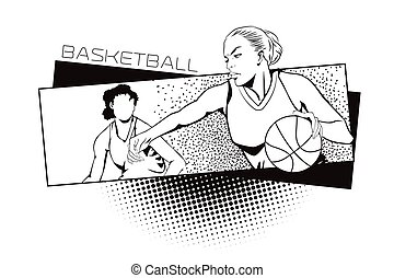 Summer kinds of sports Basketball