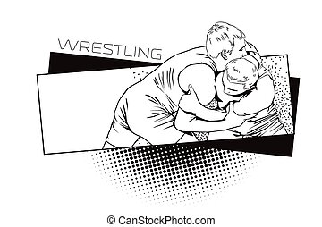 Summer kinds of sports. Wrestling.