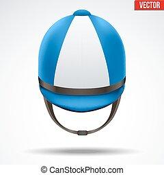 Classic Jockey helmet - Classic Blue Jockey helmet for horse...
