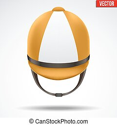 Classic Jockey helmet - Classic Orange and White Jockey...