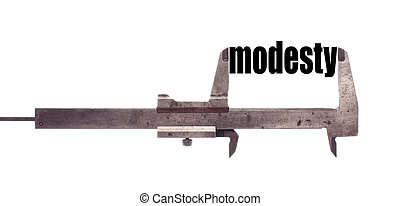 Small modesty concept - Color horizontal shot of a caliper...