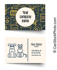 Veterinary pet health care animal medicine business card