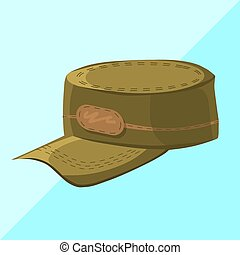 military cap isolated