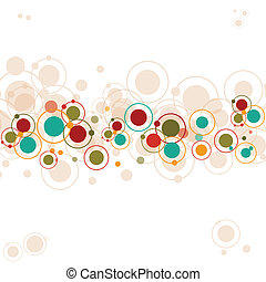 Abstract white background with circles