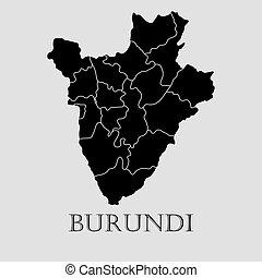 Black Burundi map - vector illustration - Black Burundi map...