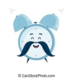 Vector funny cartoon alarm clock character - Vector funny...