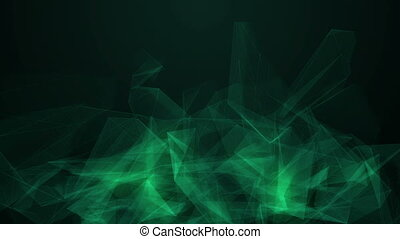 Background animation with green triangles